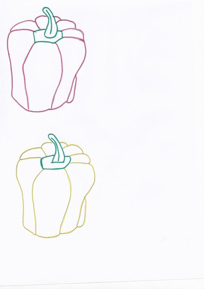 Imagini de colorat cu legume de toamna (4/6)