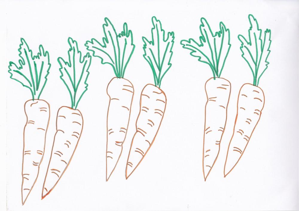 Imagini de colorat cu legume de toamna (2/6)