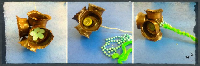 flori handmade din plastic