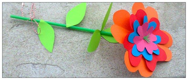 flori hartie colorata