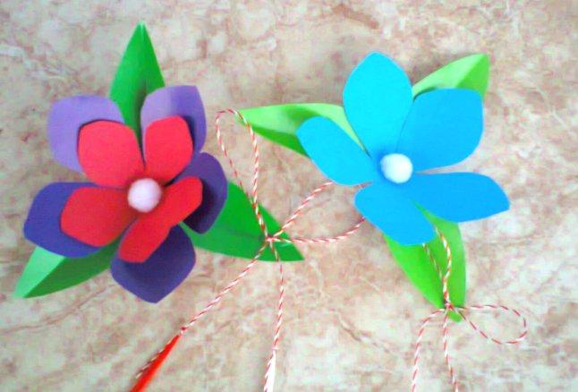 martisoare hartie flori