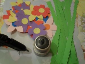 Ghirlande de flori din hârtie