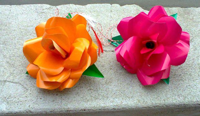 trandafiri hartie, sabloane