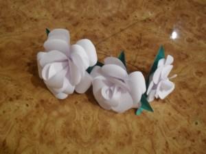 buchet trandafiri hartie