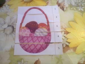 puzzle coș ouă