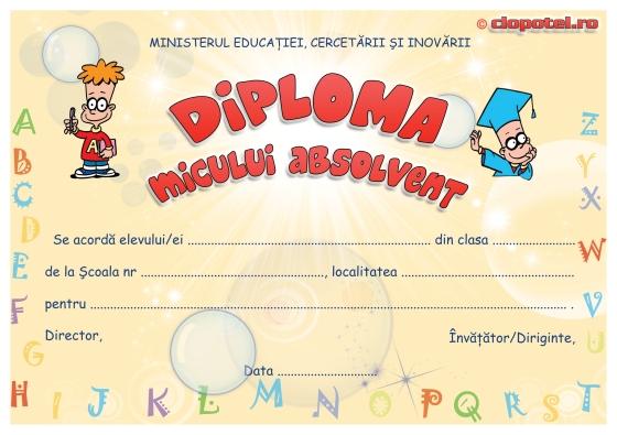 Modele de diplome pentru preșcolari