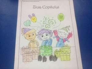 ziua copilului de colorat