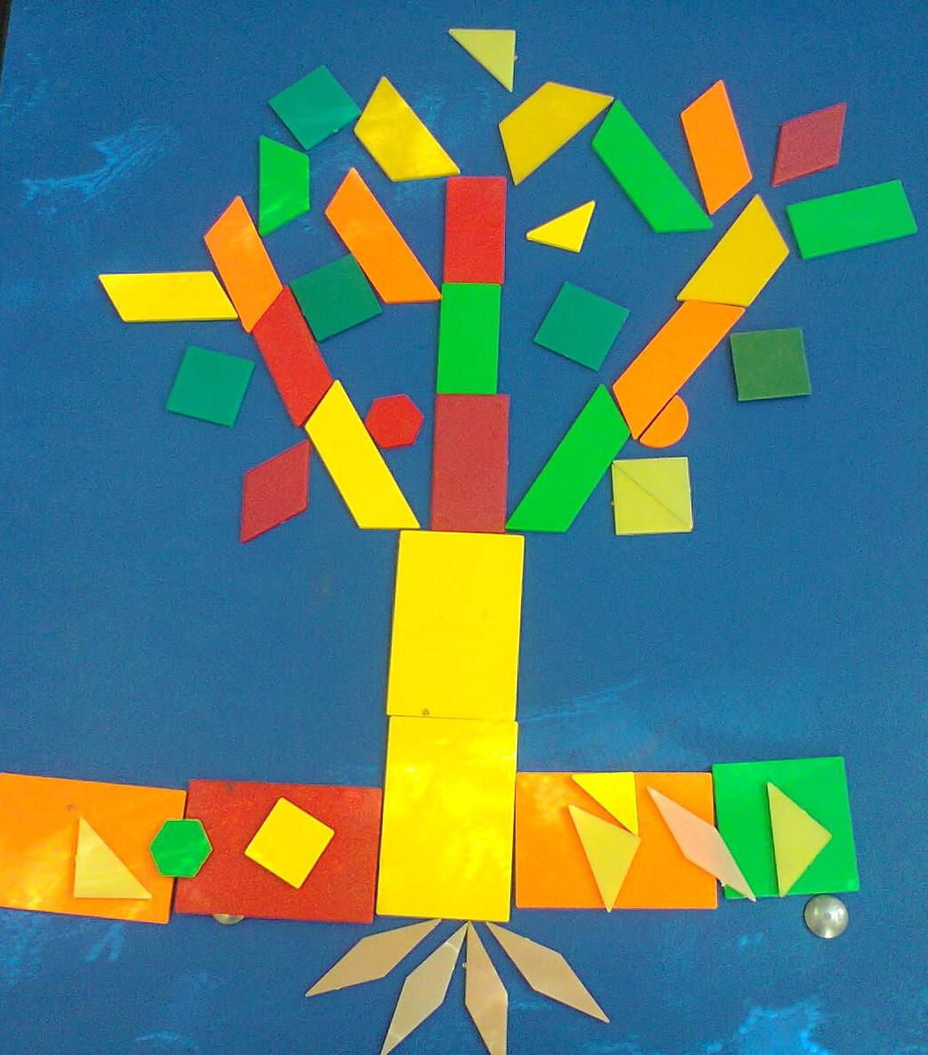 copac de toamna figuri geometrie