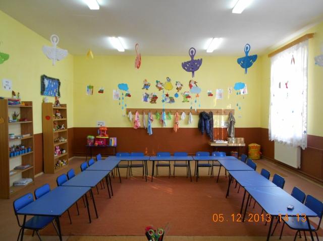 Sala de grupă în anotimpul iarna