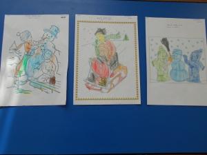 jocurile copiilor iarna imagini de colorat