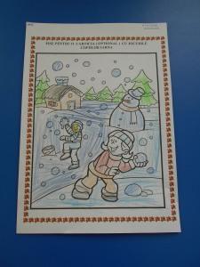 jocurile copiilor iarna imagini de colora