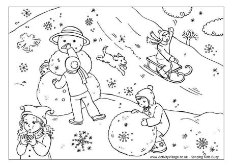 coloring pages weather snowy - photo#35
